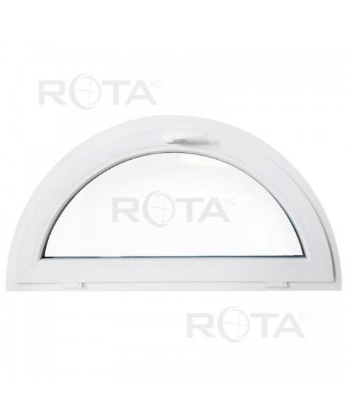 Ventana semi redonda oscilante de PVC blanco