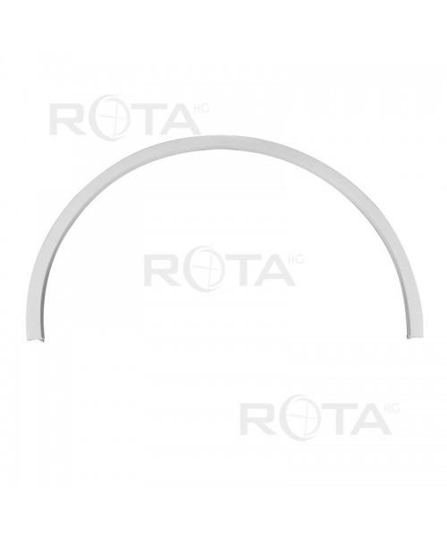 Tapajunta de PVC blanco para ventana redonda y semi redonda