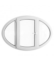 Venatana ovalada batiente 1400x1000 PVC blanco