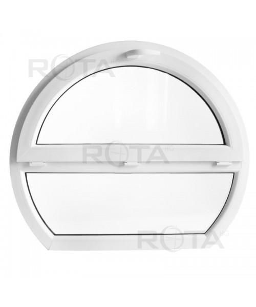 Ventana redonda fijo u abatible 1200x1000mm PVC blanco