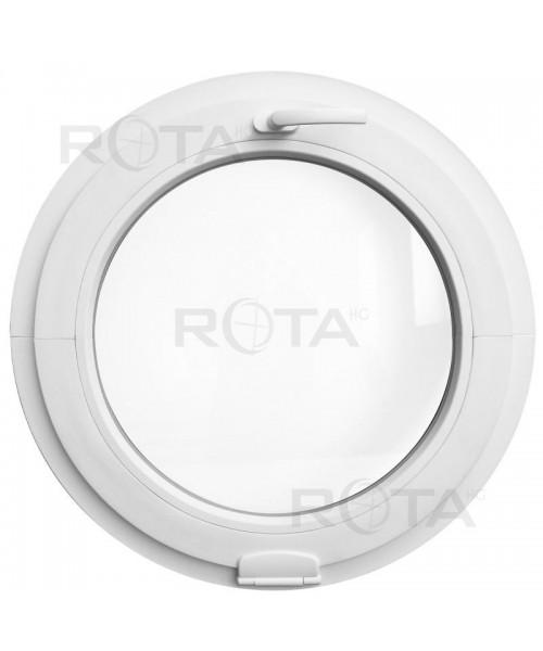 Ventana redonda oscilante de PVC bianco con Estetic3D bisagras