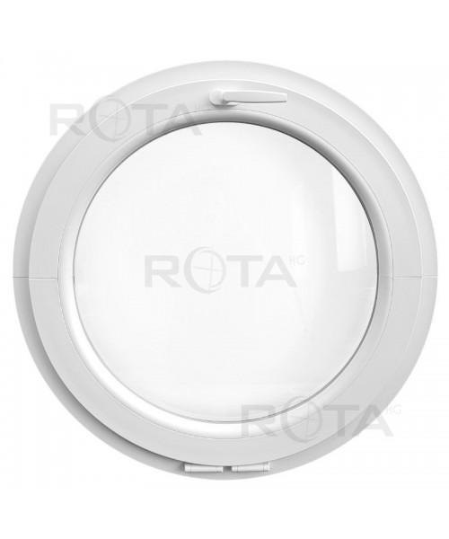 Ventana redonda oscilante de PVC blanco