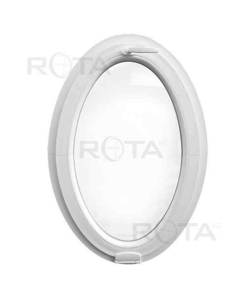 Venatana ovalada oscilante PVC blanco con Estetic3D (vertical)
