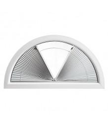 Cortina plisada para ventana semicirculare