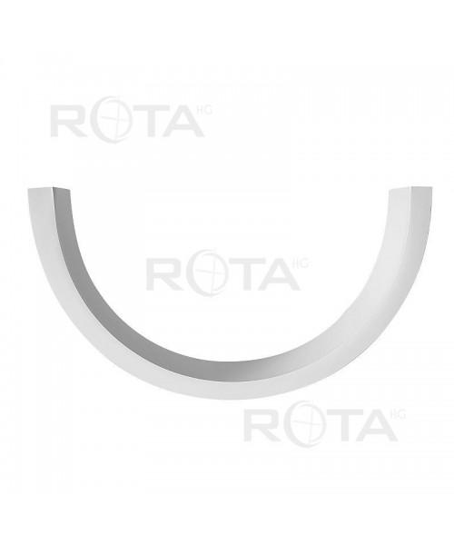 Perfil ángulo de acabado PVC blanco o RAL para ventana redonda y semicirculare