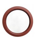Ventana redonda fija de PVC en color RAL