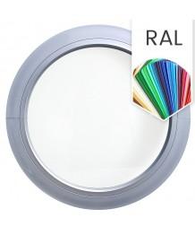Ventana redonda fija de PVC color RAL