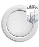 Ventana redonda oscilante de PVC bianco con vidrio texturizado