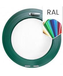 Ventana redonda oscilante de PVC color RAL