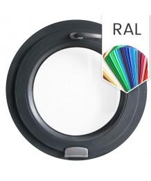 Ventana redonda oscilante de PVC color RAL con bisagras 'Estetic 3D'