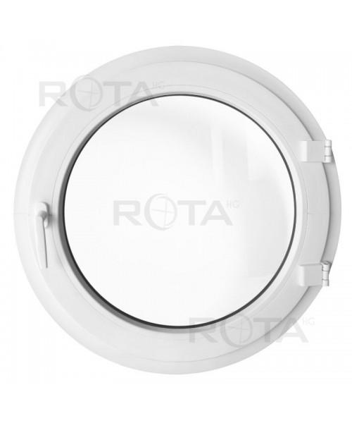 Ventana redonda practicable de PVC blanco