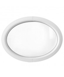 Ventana ovalada fija de PVC blanco (horizontal)