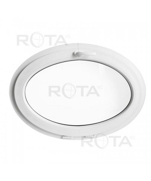 Ventana ovalada oscilante de PVC blanco (horizontal)