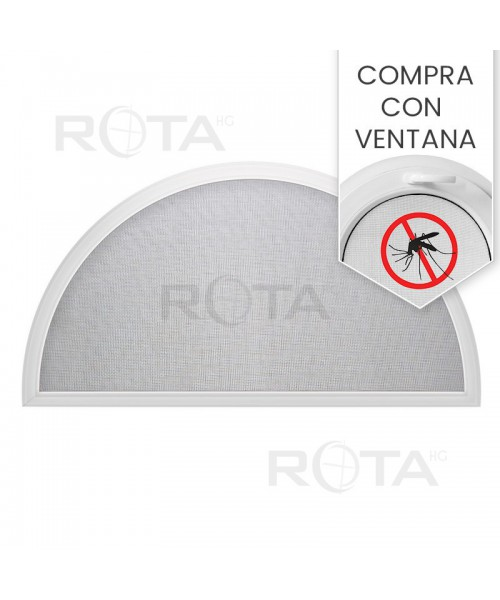 Mosquitera semicircular para ventana semi redonda