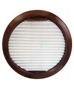 Cortina plisada para ventana redonda