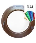 Ventana rednonda practicable de PVC color RAL