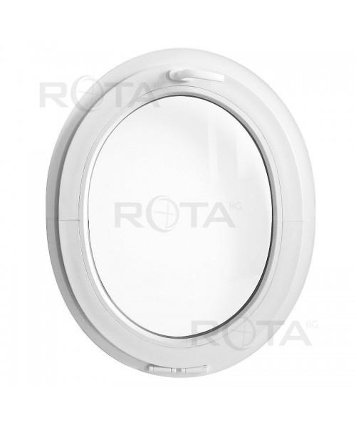 Ventana ovalada oscilante de PVC blanco (vertical)