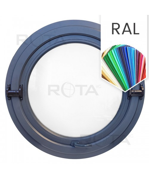 Ventana redonda basculante o pivotante de PVC color RAL