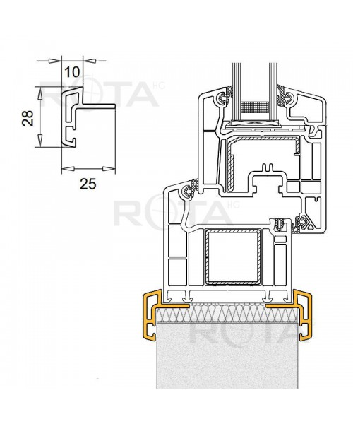 Tapajunta de PVC para ventana redonda y semi redonda