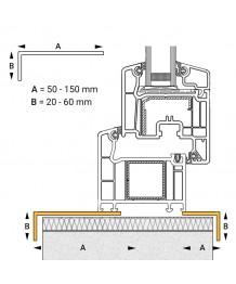 Perfil ángulo pequeño de acabado PVC para ventana redonda y semi redonda