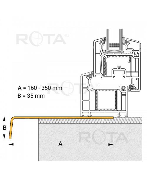 Perfil ángulo grande de acabado PVC para ventana redonda