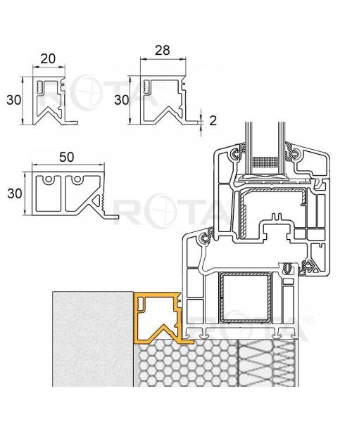 Perfil aislante de acabado PVC para ventana redonda
