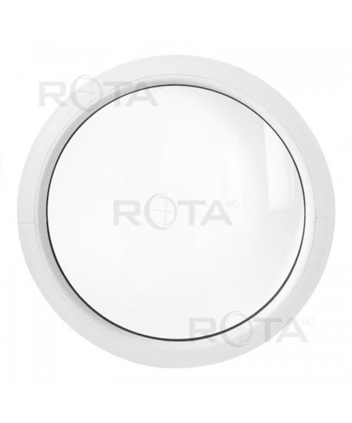 Ventana redonda fija de PVC blanco